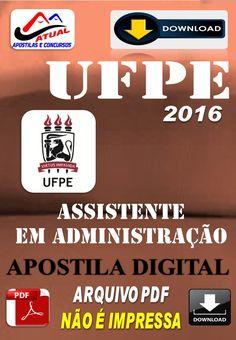 Apostila Digital Concurso UFPE Assistente em Administracao 2016