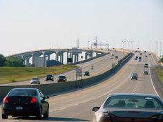 Zilwaukee Bridge on I-75 near Saginaw, Michigan