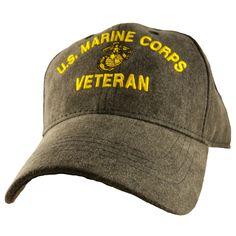 25142e7ba2bafa U.S. Marine Corps Veteran Charcoal Grey Ball Cap. Marine Corps HatsVeteran  ...