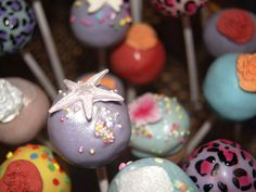 Lavender cake pop with star