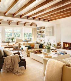 Decorar una vivienda con techos de madera