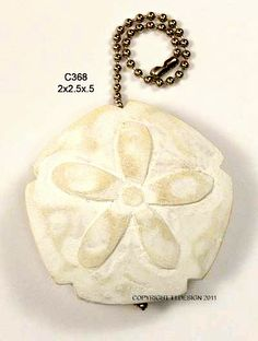 Fan and Light Pull Chain Starfish Sand Dollar Green Shell