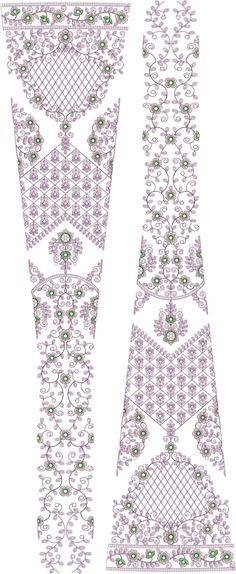 ton to ton bridal lehenga/kali Embroidery Design Embroidery Fashion, Diy Embroidery, Machine Embroidery Designs, Embroidery Patterns, New Lehenga, Bridal Lehenga, Lehenga Color Combinations, Pattern Art, Art Patterns