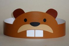 Create your own Beaver Crown! Print, cut & glue your beaver crown together & adjust to fit anyones head! • A .pdf file available for instant