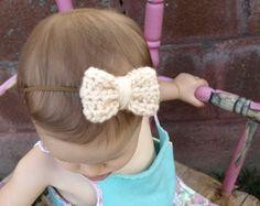"""""""Alice"""" crochet bow headband"""