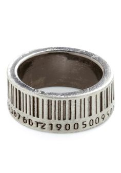 Barcode Ring  #ring #numbers #barcode