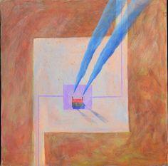 Kristian Krokfors: Punainen katto, öljy, 49x49 cm - Hagelstam K133