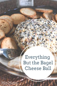 We're Obsessed with This Everything But The Bagel Cheese Ball! Everything but the bagel cream cheese spread appetizer Cheese Appetizers, Easy Appetizer Recipes, Appetizers For Party, Appetizer Ideas, Cream Cheese Ball, Cream Cheese Spreads, Cheese Ball Recipes, Everything Bagel, Clean Eating Snacks
