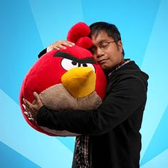 Love is an angry bird the size of a medium-sized dog!