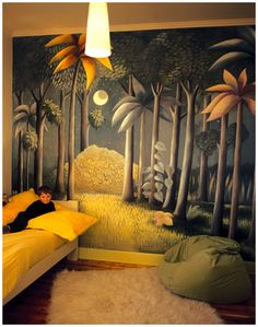 Where The Wild Things Are mural by Pacquita Maher. So cute in a child's room!