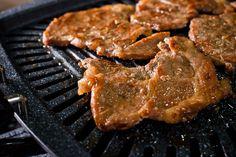 Dwaeji Moksal Yangnyeom Gui - Grilled pork collar slices with Gal-Bi seasoning