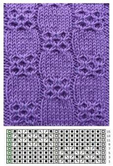 Rundstrickmuster rnrnSource by gabrieleabb Lace Knitting Patterns, Knitting Stiches, Cable Knitting, Knitting Charts, Knitting Designs, Crochet Stitches, Hand Knitting, Stitch Patterns, Knitting Tutorials