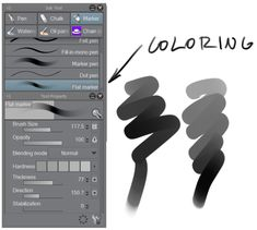 Home to brush resources for CSP (or Manga Studio). Clip Studio Paint Brushes, Mode Normal, Workshop Design, Drawing Templates, Chalk Markers, Anatomy Drawing, Digital Art Tutorial, Marker Pen, Paint Pens