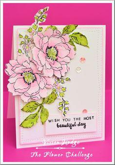 Daizy-Mae's-Crafty blog: The Flower Challenge #1 Altenew Beautiful Day