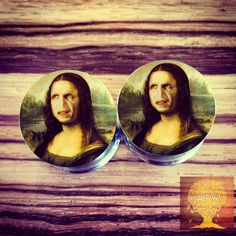 Lovely g Voldemort Mona Lisa Plugs CHOOSE SIZE by StretchTheWorld