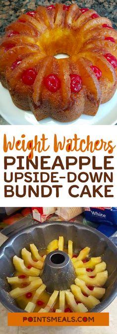 Pineapple Upside-Down Bundt Cake (WEIGHT WATCHERS SMARTPOINTS)