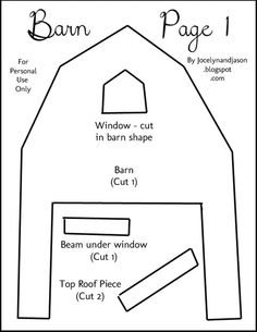 Barn Quiet Book page template- I am going to give this a try. It is printed and now to go sew...