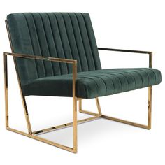 Santorini Long Arm Tufted Chair in Hunter Green Velvet Cheap Chairs, Chairs For Sale, Small Swivel Chair, Tufted Chair, Chair Cushions, Upholstered Chairs, Leather Dining Chairs, Vintage Design, Occasional Chairs