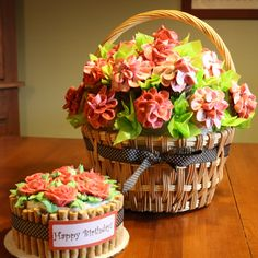 Cupcake Bouquet with matching cake