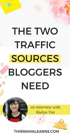 Do you ever wonder how established bloggers do it? Get traffic, make sales, and grow their brand - it seems so easy. Today, I'm talking to Raelyn Tan and she shared some great info about the two best traffic sources for bloggers and WHY they're the best to avoid the feast/famine cycle. Check it out here. via @thismamalearns