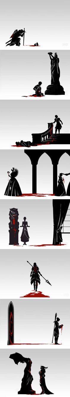 Dragon Age Ladies + Backstories Individual images below: ▪ Cassandra | Anthony ▪ ▪ Leliana | Chant of Light ▪ ▪ Josephine | The Bard &#96...