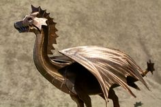 Mini Metal Dragon Sculpture by Davisbrothers on Etsy, $150.00