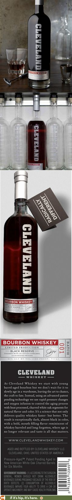 Cleveland Bourbon Whiskey with bottle design by CGNapa