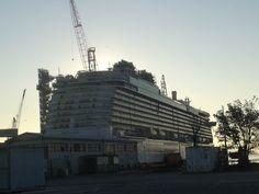 Britannia, a new big cruise ship for P&O (Monfalcone, Italy)