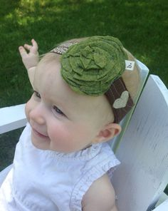 Little Tree wide Baby / Toddler Headband by letterbdesigns on Etsy
