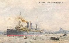 P & OSS Arabia ~ Postcard ~ Posted - Active Service Royal Navy postcard by CardsbyCollecticFind on Etsy Boat Accessories, Tall Ships, Royal Navy, Postcards, Egypt, Ocean, Etsy, Cruise Ships, Artist