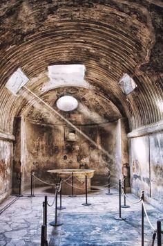 The bath of Pompeii, Italy