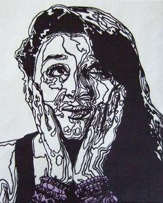 paper cut self portraits