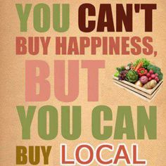 The best food you can get you don't have to look that far for, buy local! Buy Local, Shop Local, Local Milk, Slow Food, Farm Stand, Farmers Market, Produce Market, Real Food Recipes, Food Tips