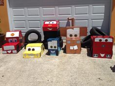Home Made Cardboard Disney Cars