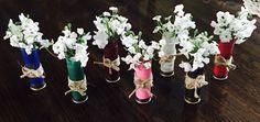 12 gauge shotgun shell flower center pieces~  wedding favors, momentos…
