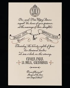 Antiquaria Custom Invitation | Martha Stewart