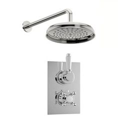 Antonio thermostatic shower valve with wall shower set