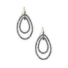 Repin me! Chloe and Isabel Crystal Pave Link Double Drop Earrings $58. ChloeAndIsabelJewels.com #chloeandisabel #jewelry #vintage  To purchase visit my website: https://www.chloeandisabel.com/boutique/moniquejohnson