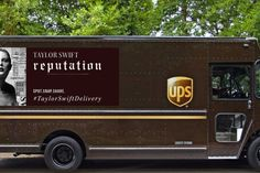Look at what Taylor Swift made UPS do. The shipping company is plastering the star's face on the side of a select fleet of its trucks in . Parcel Delivery, United Parcel Service, Swift Facts, Bad Blood, She Is Gorgeous, Taylor Alison Swift, Trucks, Vehicles