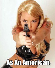 As An American.
