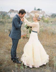 Photo by Jose Villa via Green Wedding Shoes