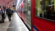 Docklands Light Railway trains at Bank station  recorded on 5th October 2015