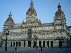 .de La Coruña : Plaza de María Pita : Galicia, España