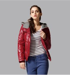 Free Shipping Brand Hot Sale Red/Black/White Down Jackets For Women Fashion 2013 Winter Down Jackets Women B16 $85.00