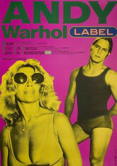 Andy Warhol Label 1990s Japanese B2 Poster♀️Andy Warhol ♀️More Pins Like This At FOSTERGINGER @ Pinterest♀️