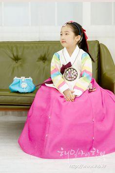 해밀아이 여아 아동한복, 돌한복 덩의 - 자영파아분