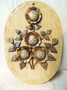Wood Flower Plaque-Unique Style Wall Hanging-Carved Wood Sculpture Picture-Cool Retro Home Decor-Unusual Vintage Handmade Wooden Art Picture Handmade Home Decor, Handmade Wooden, Coconut Shell Crafts, Wood Flowers, Wooden Art, Retro Home Decor, Make Arrangements, Wood Sculpture, Carved Wood