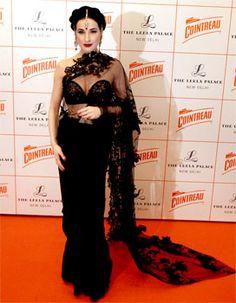 Dita Von Teese Garter Belt In Size 10 Paris Peach Colour In Noir