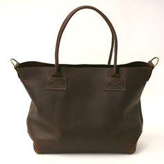 Ashcroft Leather Carryall  Dark Brown