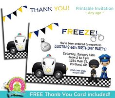 Police Party Invitation | by Forever Your Prints